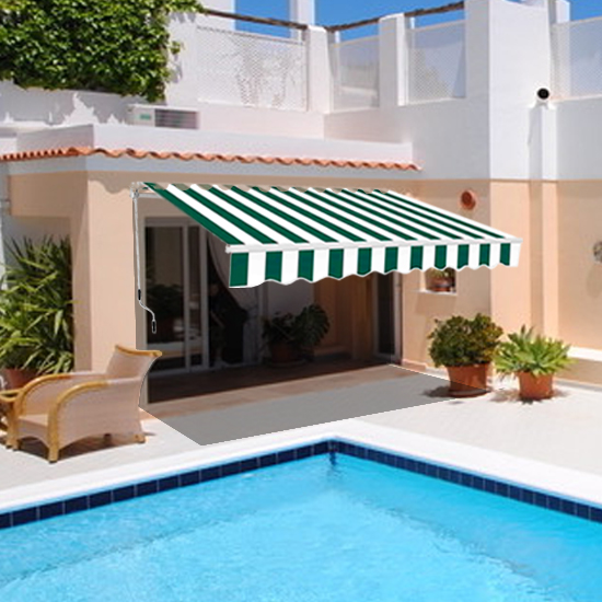 Garden Awning Patio Sun Shade Canopy Shelter With Fabric