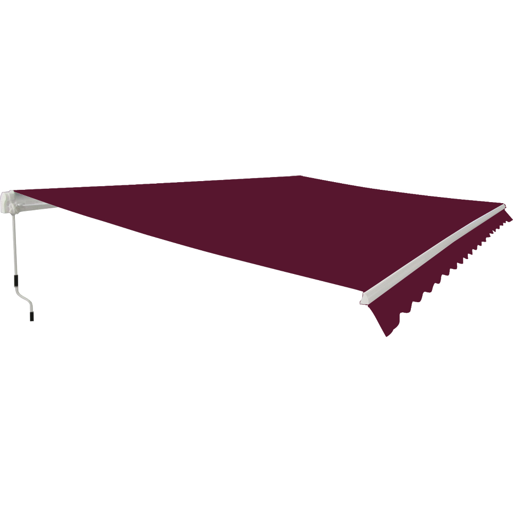 Garden patio manual retractable awning canopy sun shade for Retractable patio awning canopy