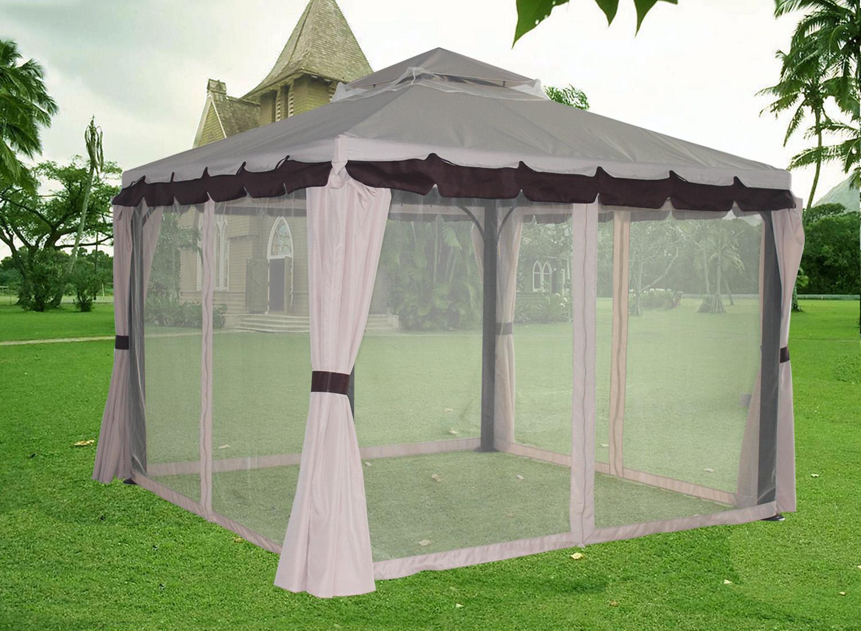 3x3m Luxury Aluminium Pavilion Gazebo Awning Canopy Sun