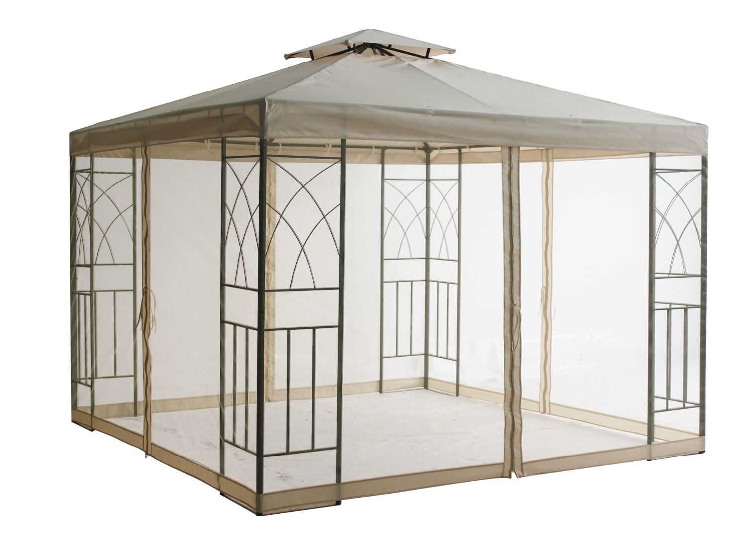 Metal gazebo awning canopy sun shade shelter pavilion - Insect netting for gazebo ...