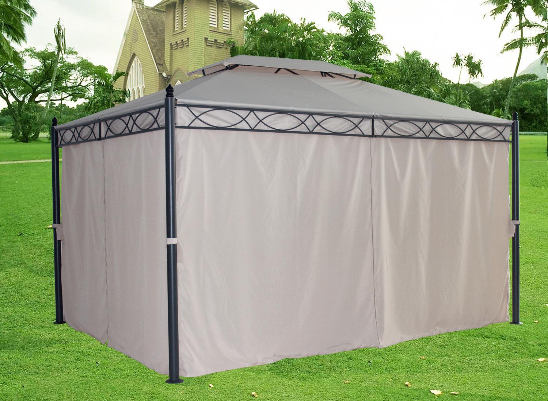 3 X 4m Metal Gazebo Pavilion Awning Canopy Sun Shade