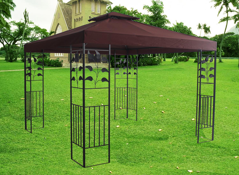 Sun Shelter Metal : Metal pavilion gazebo awning canopy sun shade shelter