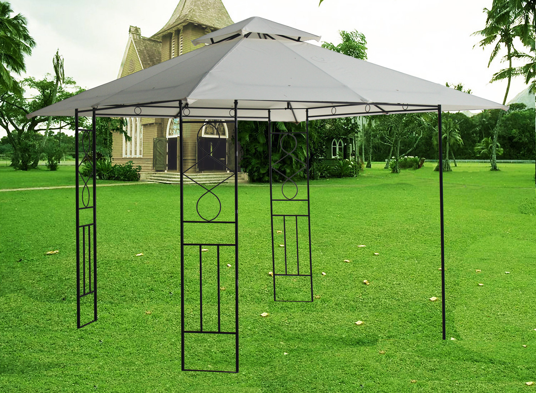 3x3m Pavilion Metal Gazebo Awning Canopy Sun Shade Shelter