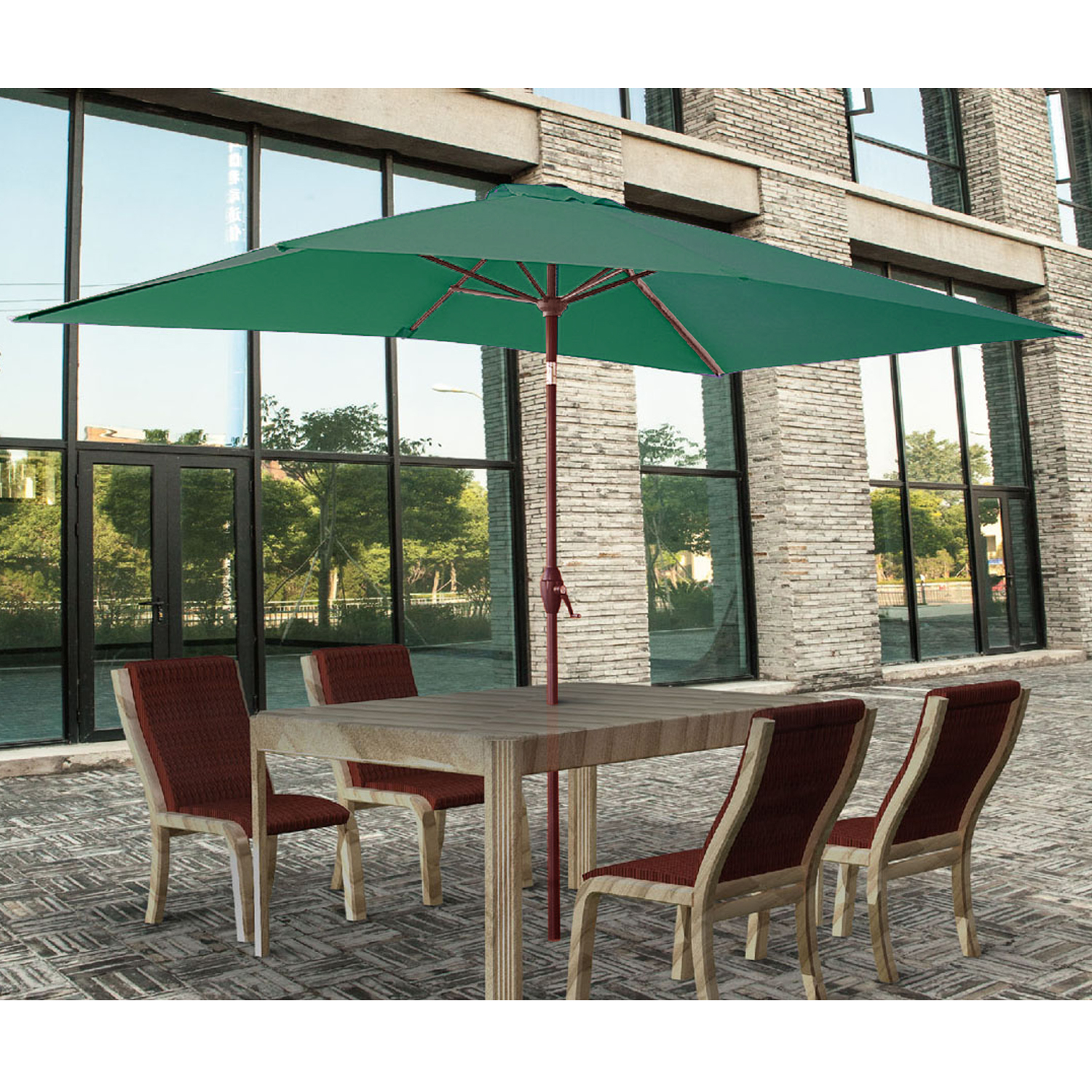 2x3m rectangle garden parasol umbrella patio sun shade aluminium crank tilt ebay. Black Bedroom Furniture Sets. Home Design Ideas