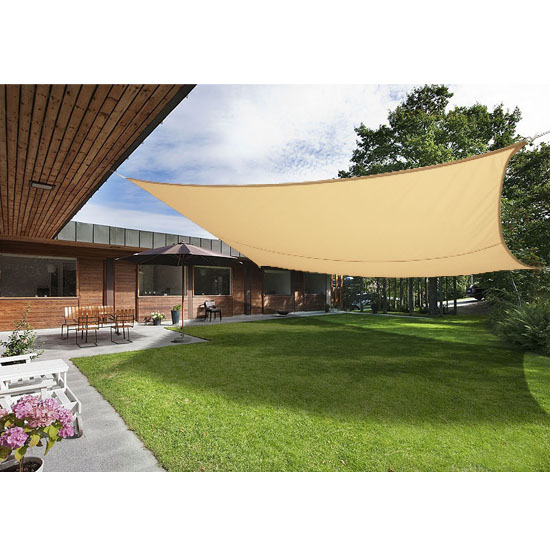 5m x 4m sun shade sail garden patio awning canopy screen. Black Bedroom Furniture Sets. Home Design Ideas