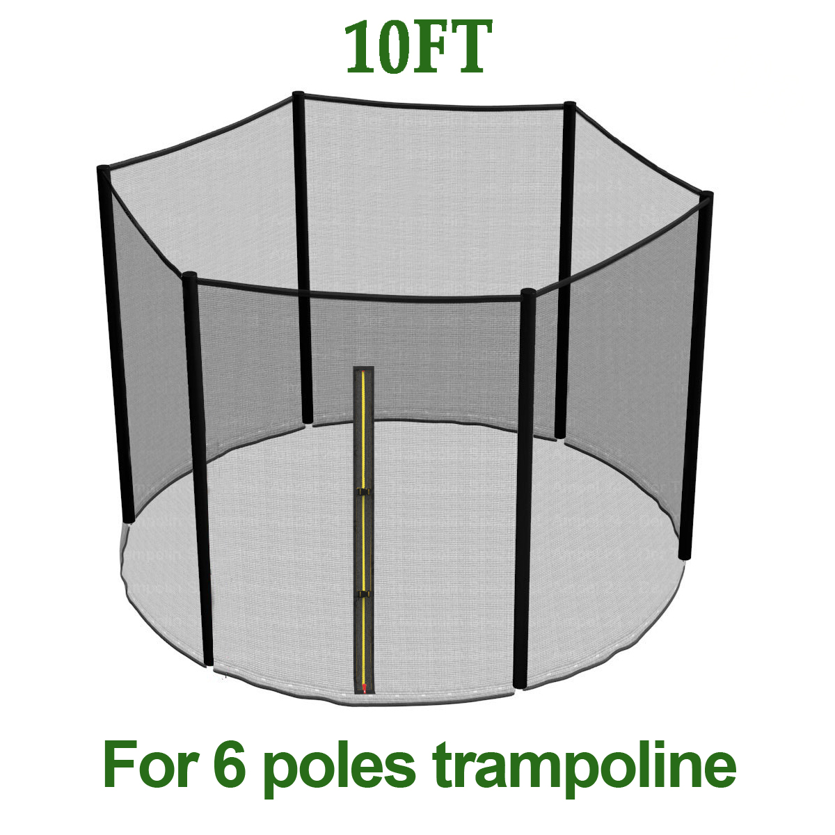 10 FT TRAMPOLINE REPLACEMENT SAFETY NET PADDING SPRING