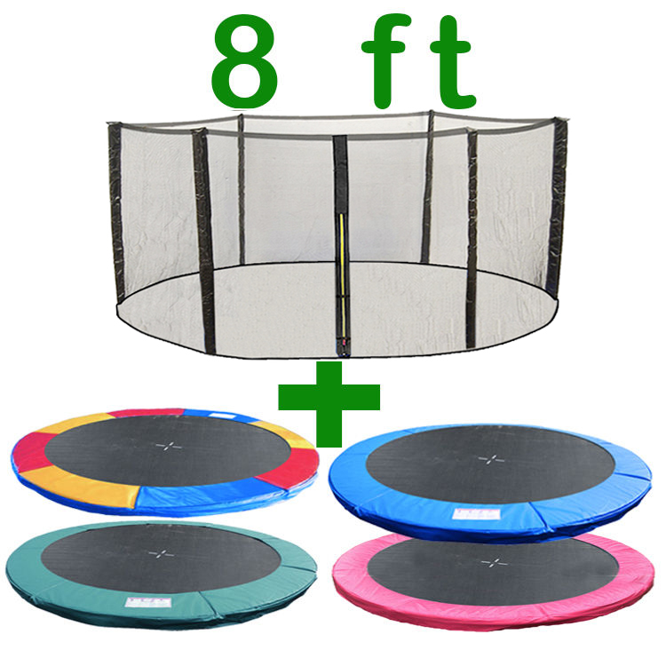 8 FT TRAMPOLINE REPLACEMENT SAFETY NET PADDING SPRING