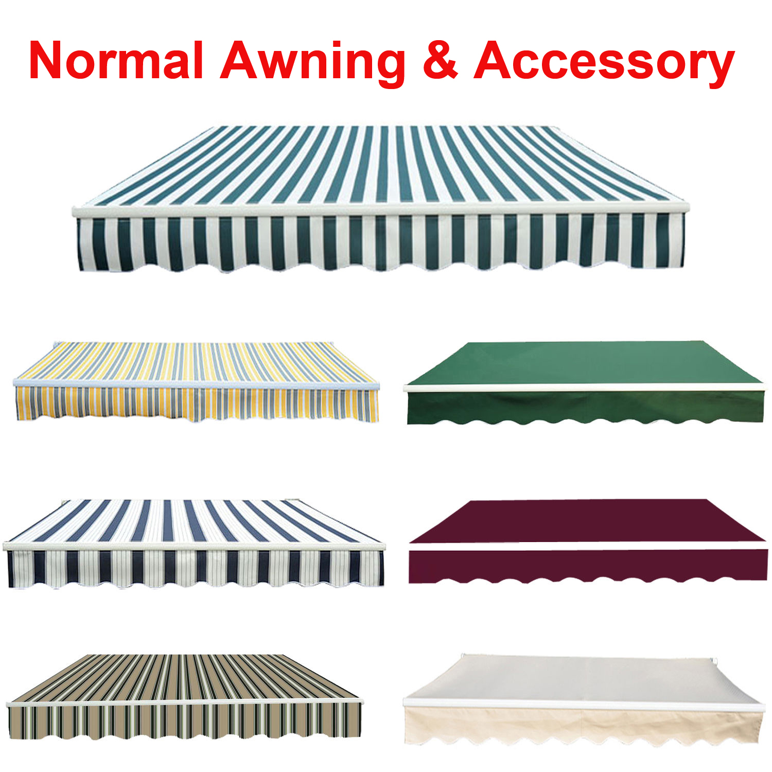 Replacement Fabric For Awning Canopy Garden Sun Shade
