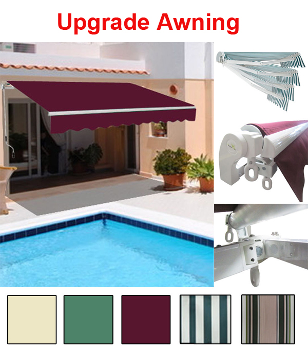 Garden Awning Patio Sun Shade Canopy Shelter With