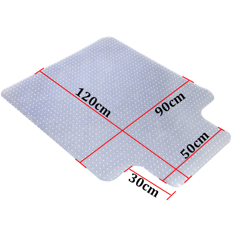 lipped office home chair mat floor protector frosted
