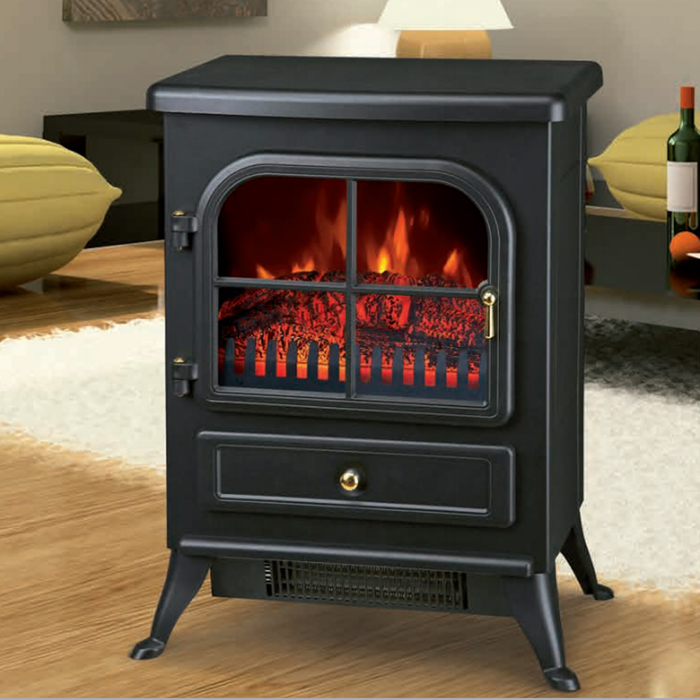 Electric Fireplace With Heat: Freestanding 1850W Electric Fireplace Home Heater Fire