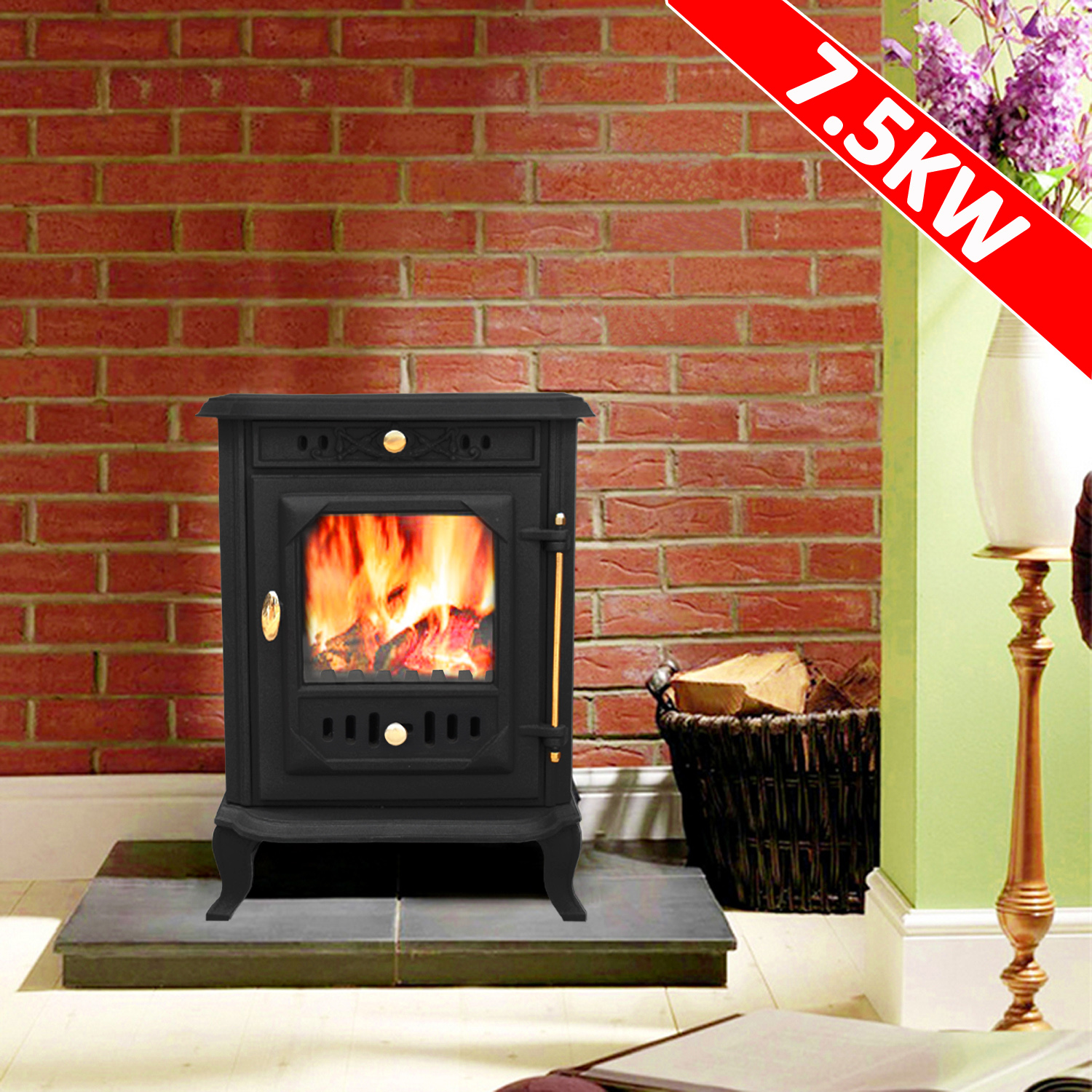 multifuel log burning cast iron wood burner stove fireplace ja001