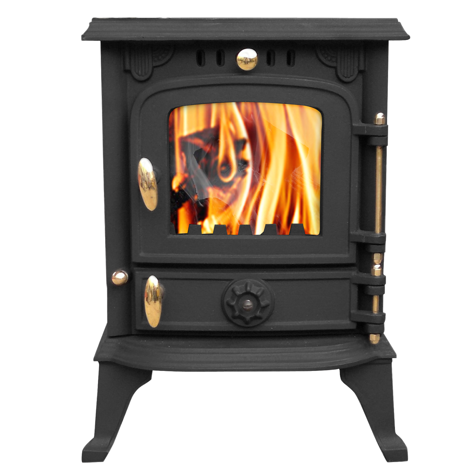 multifuel cast iron log burner wood burning stove fireplace new ebay
