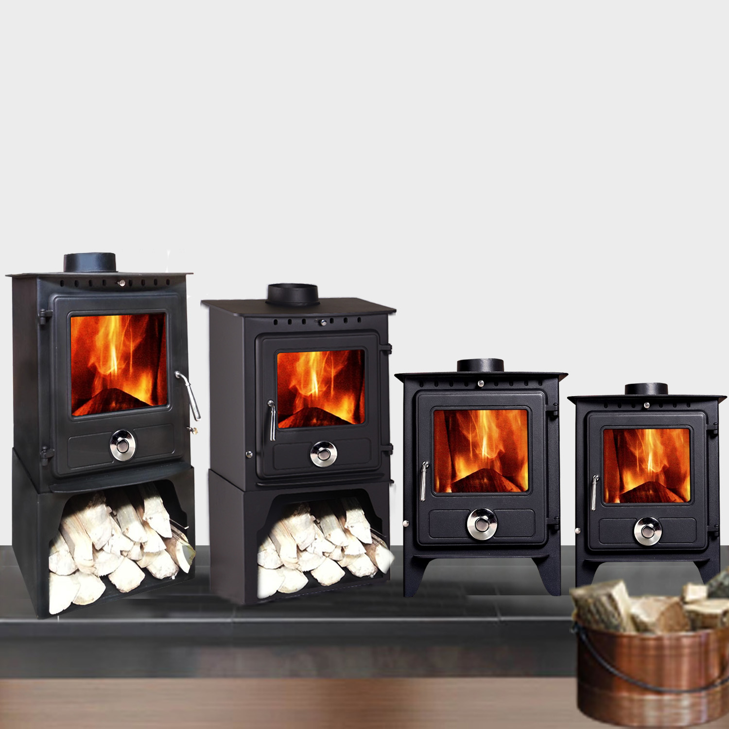 Reepham Multifuel Clean Burn Log Burning Steel Wood Burner