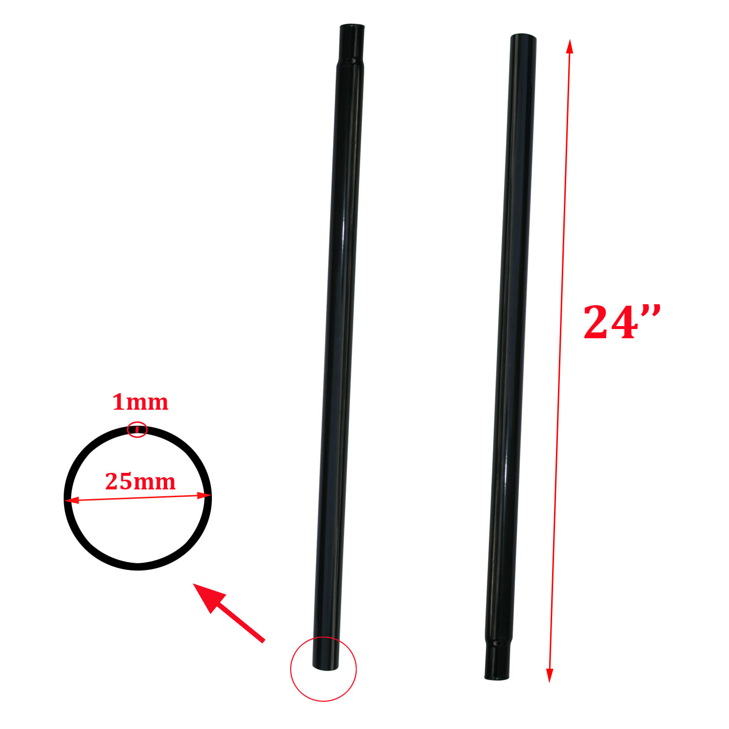 24 extension pole for garment rail clothes display stand. Black Bedroom Furniture Sets. Home Design Ideas
