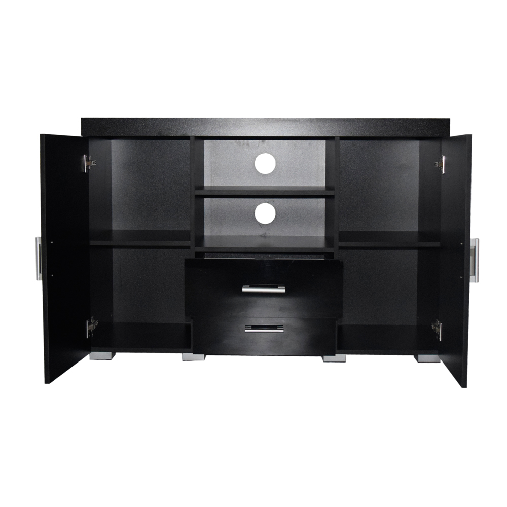 Tall Black Gloss White Tv Stand Entertainment Centre