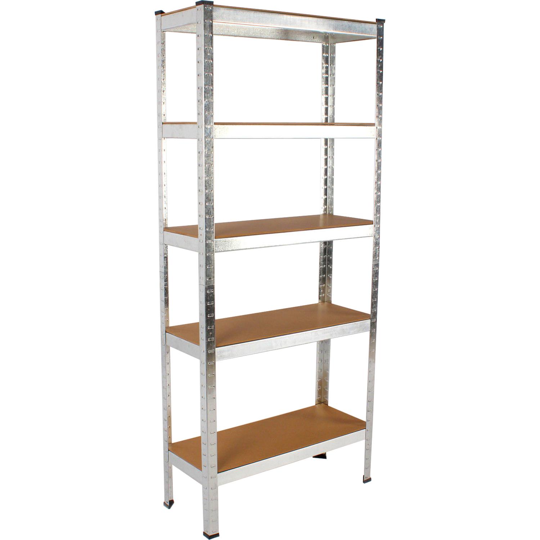 heavy duty metal racking 5 tier garage storage shelf. Black Bedroom Furniture Sets. Home Design Ideas