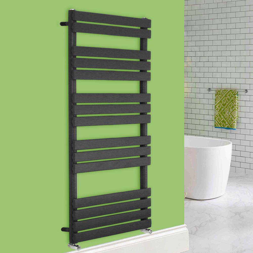 Modern Design Anthracite Flat Panel Heated Towel Rails Modern Design Anthracite Flat Panel Heated