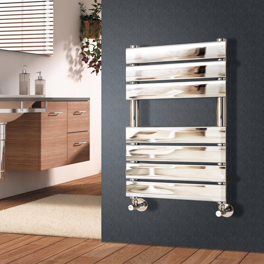 Designer Flat Panel Bathroom Heated Towel Rail Radiator ...