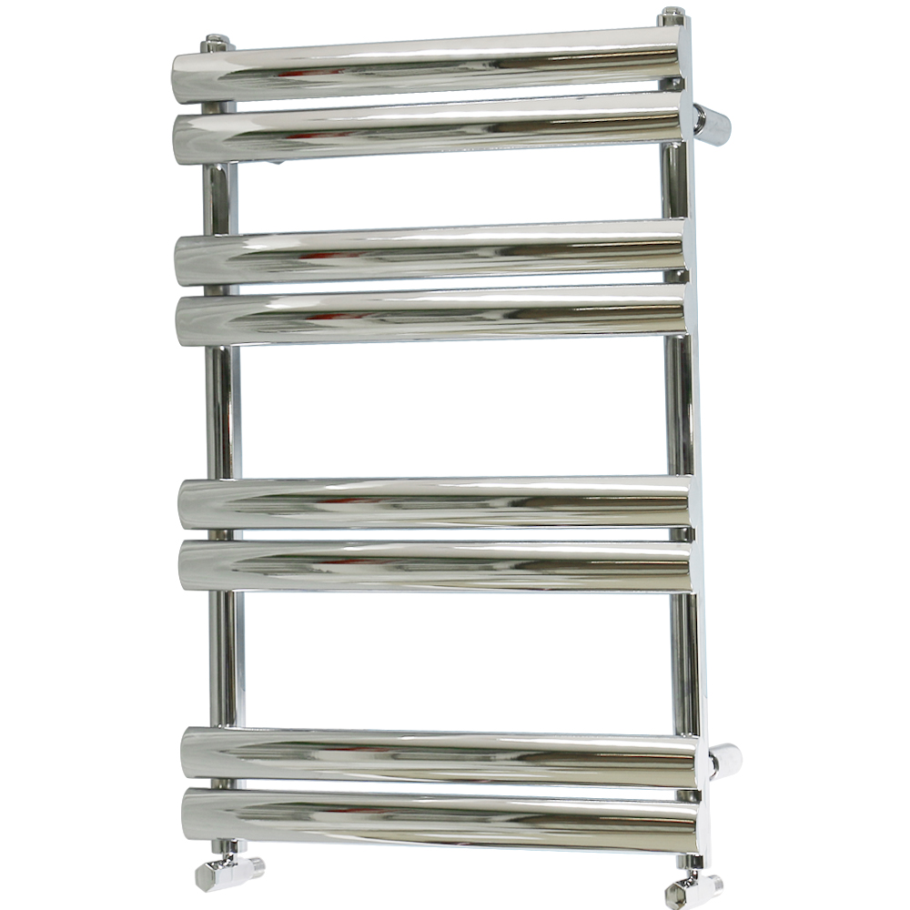 Chrome Heated Towel Rail Oval Bathroom Warmer Radiator Rad ...