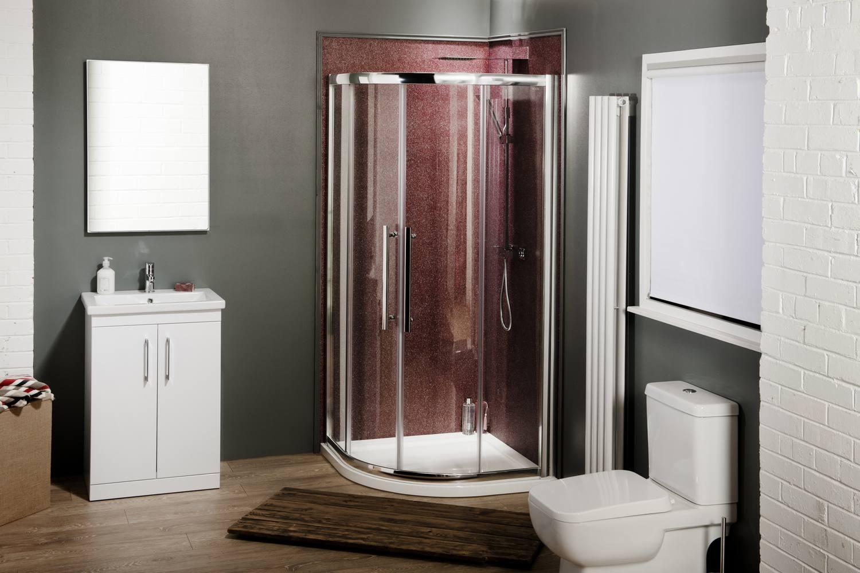 900x900 luxury quadrant shower enclosure walk in corner cubicle 8mm glass door ebay - Luxury shower cubicles ...