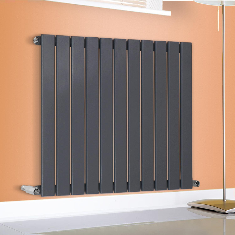 White Bathroom Radiators: Horizontal Designer Bathroom Flat Panel Radiator White