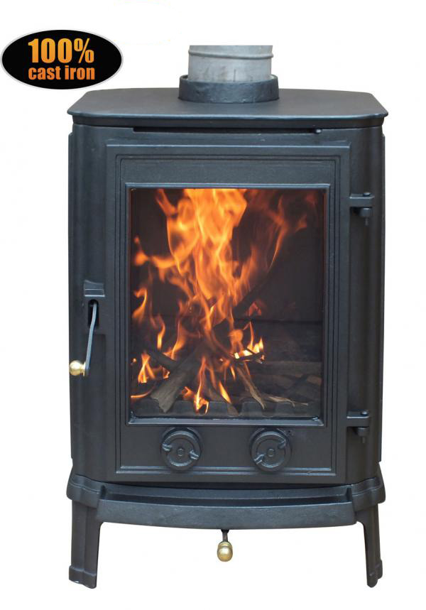 4kw cradley cast iron woodburning log burner multifuel