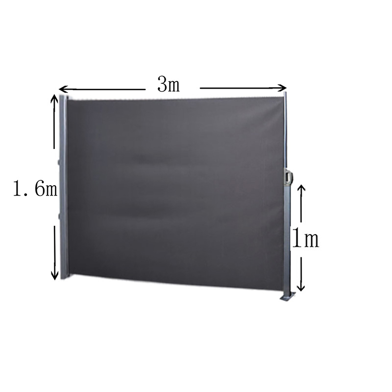 Side Awning Blind Sunshade Patio Garden Terrace Screen