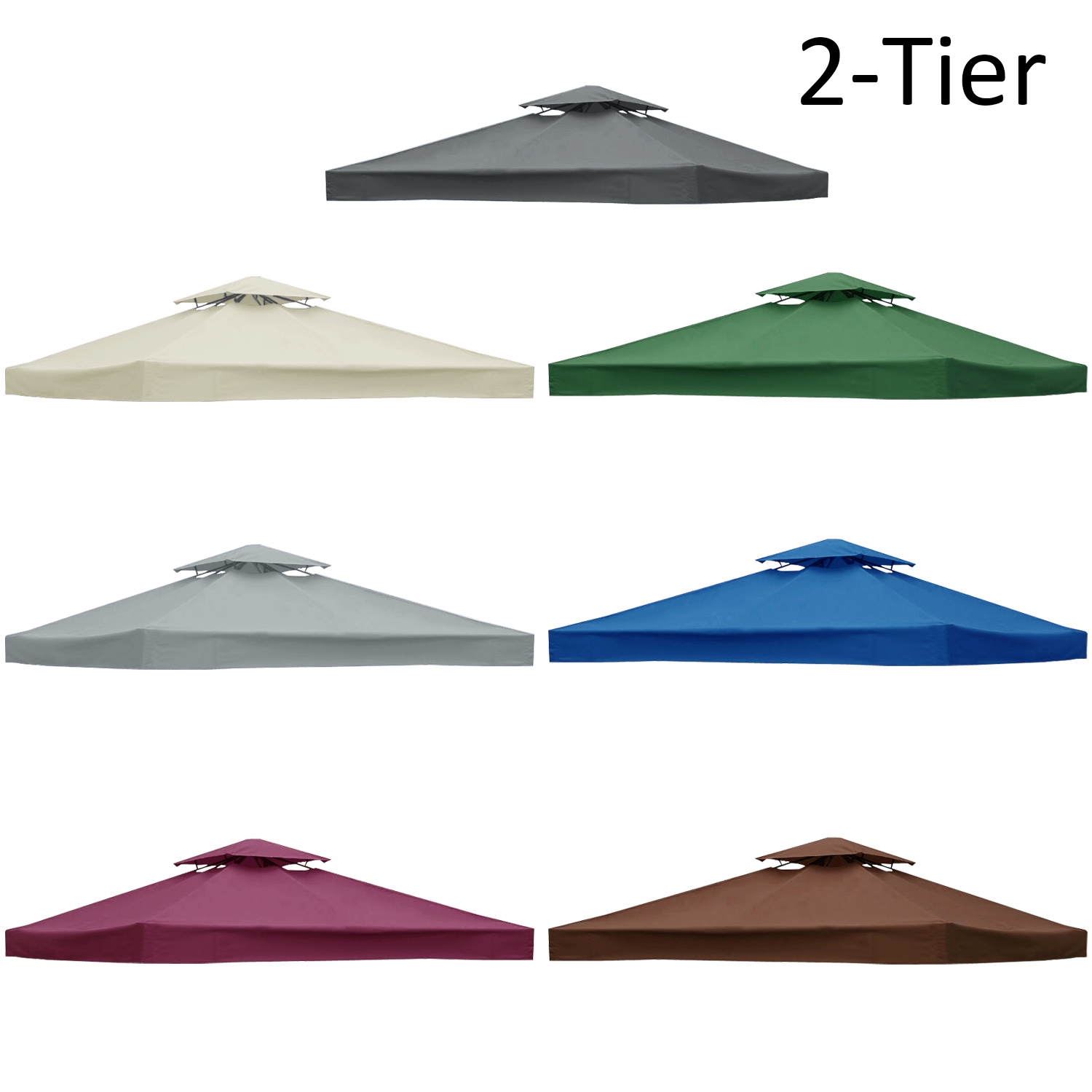 3x3m Garden Gazebo Top Cover Roof Replacement Fabric Tent