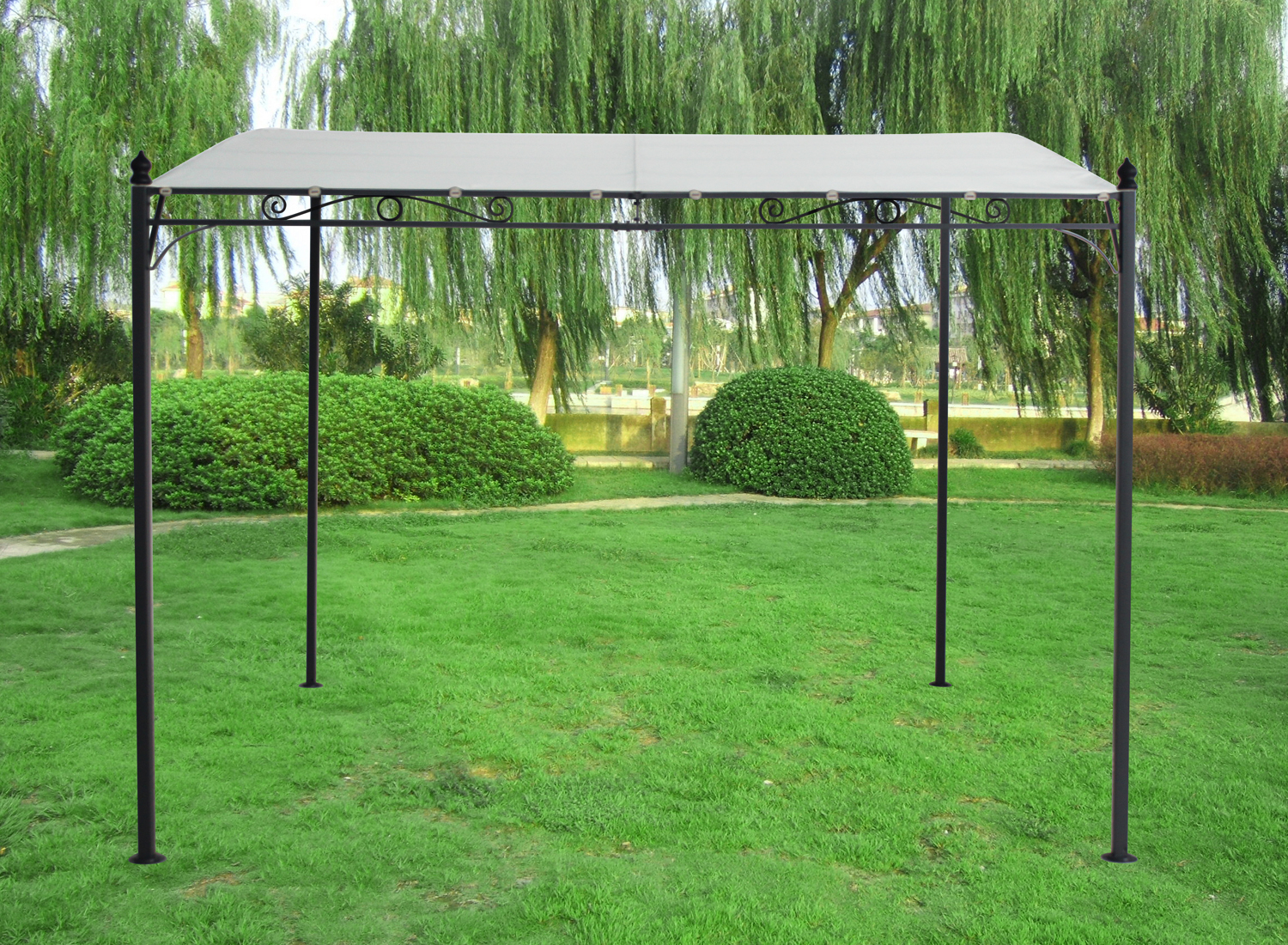 3x3m metal wall gazebo canopy pergola awning shade marquee shelter door porch. Black Bedroom Furniture Sets. Home Design Ideas