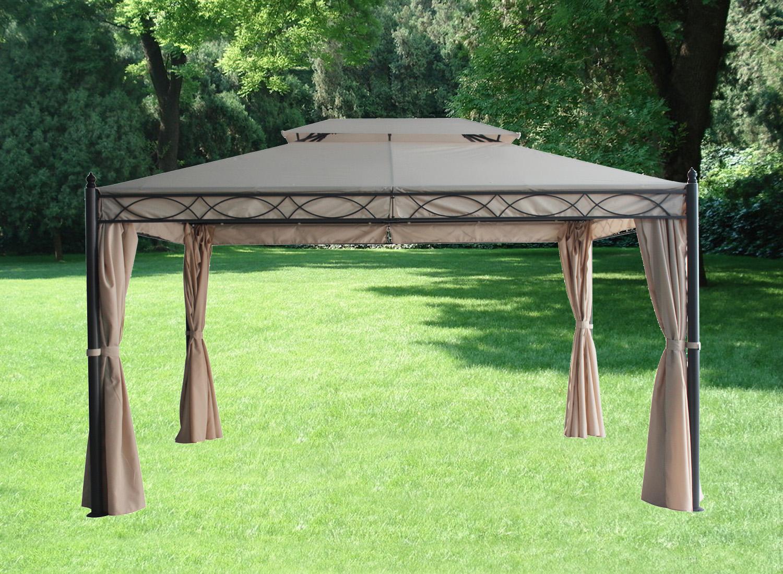 3x4m metal gazebo pavilion garden tent canopy sun shade. Black Bedroom Furniture Sets. Home Design Ideas