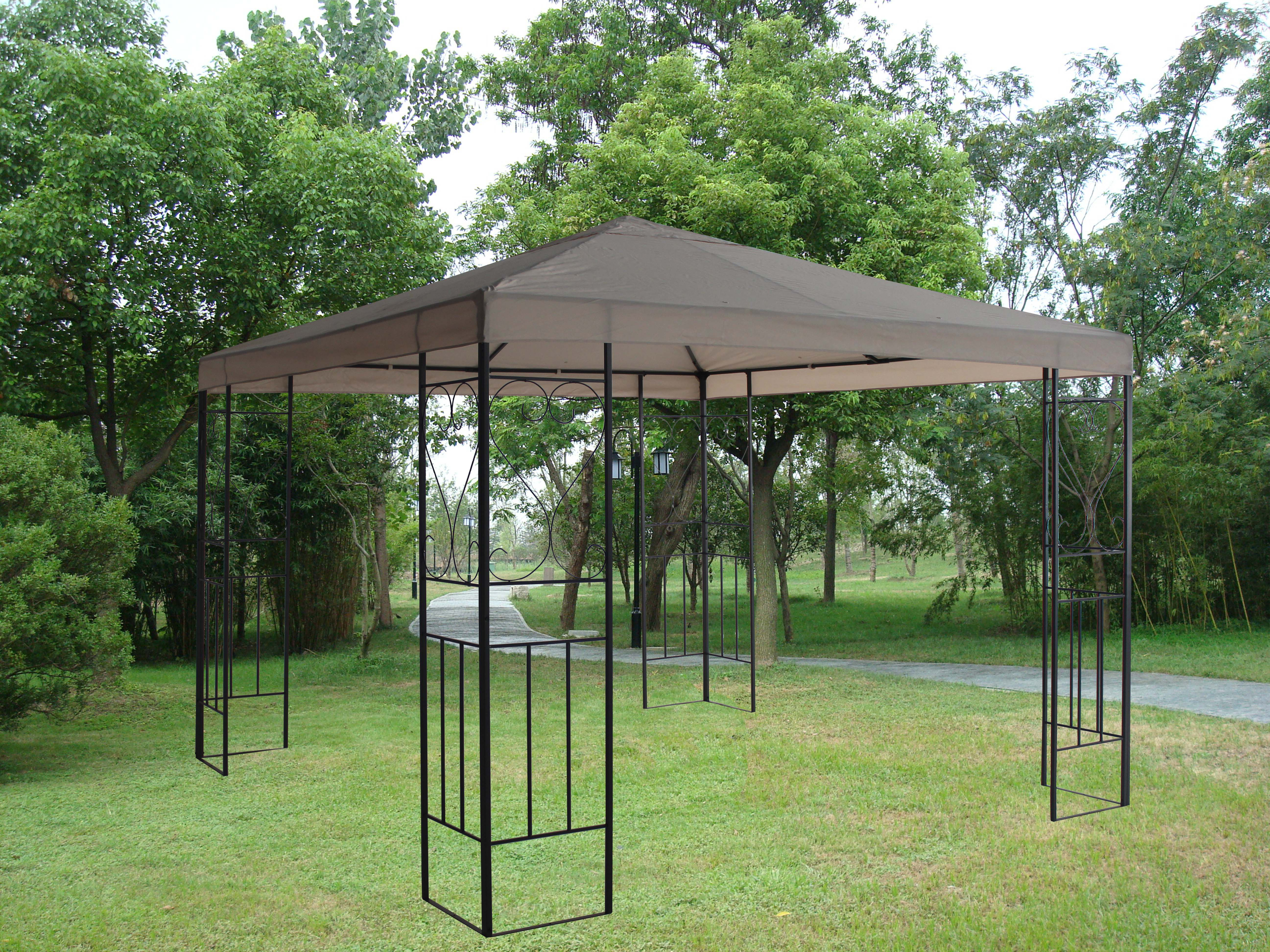 3x3 Garden Metal Gazebo Canopy Pavilion Shade Screen  : 1 from ebay.co.uk size 5187 x 3890 jpeg 2229kB