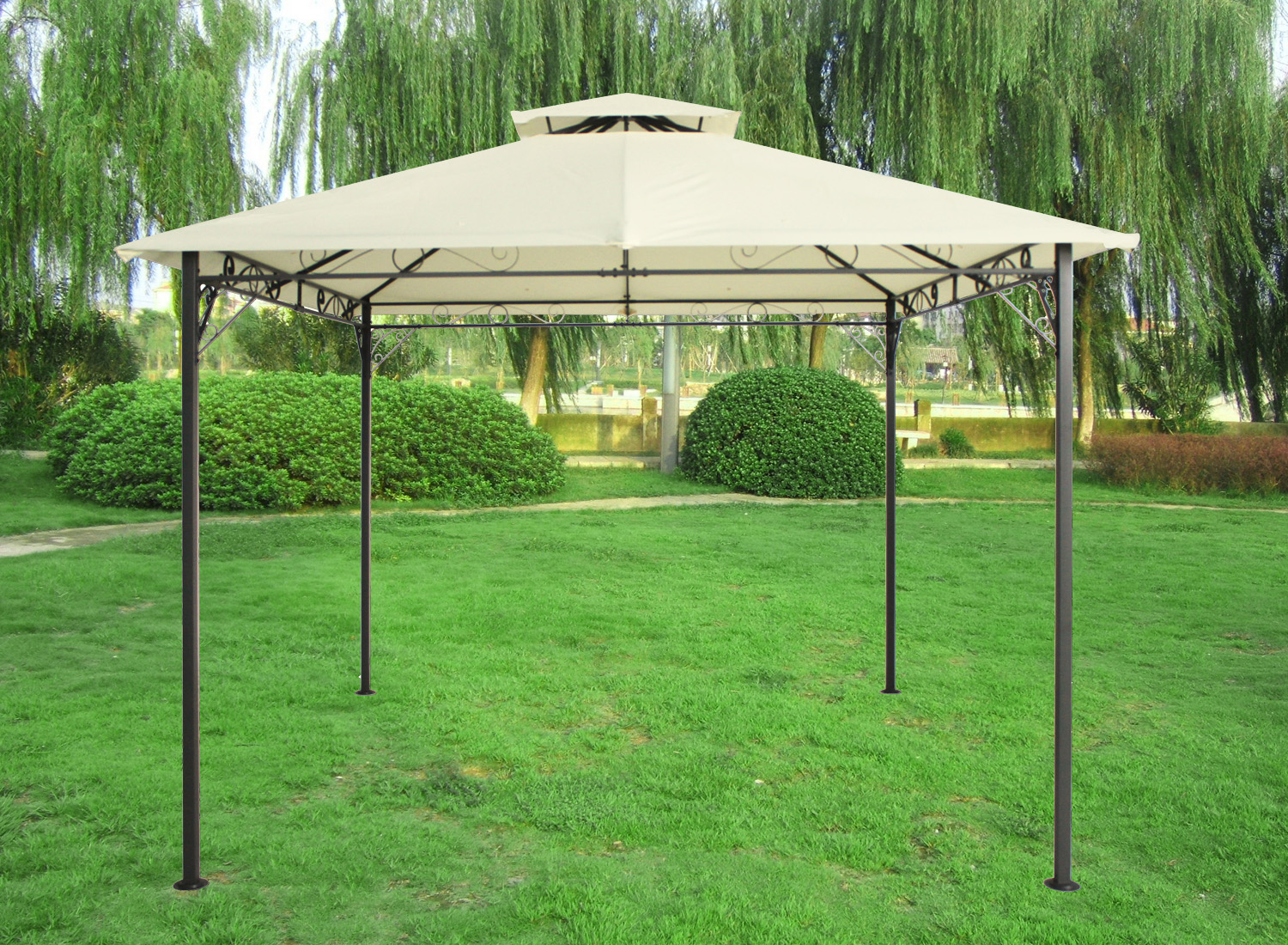3x3m pavilion gazebo awning canopy sun shade shelter. Black Bedroom Furniture Sets. Home Design Ideas