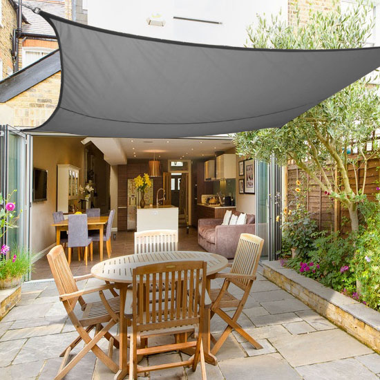 Exceptional 3m X 2m Sun Shade Sail Garden Canopy Awning Screen 98% UV Block Anthracite  | EBay
