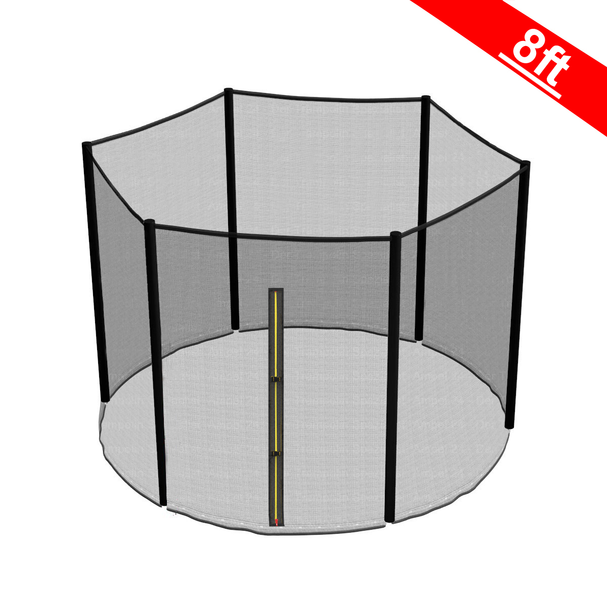 8FT Trampoline Replacement Safety Net Enclosure Surround