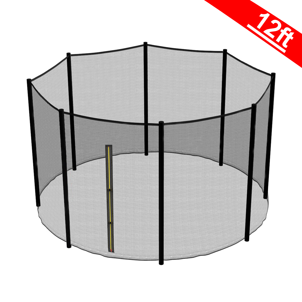 12FT Trampoline Replacement Safety Net Enclosure Surround