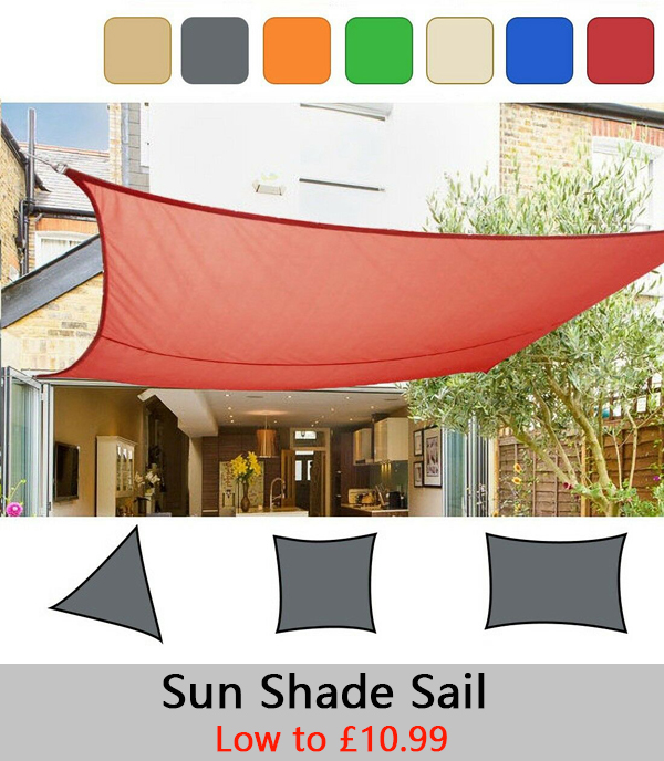 Sun shade sail garden patio party sunscreen awning canopy for French style gazebo