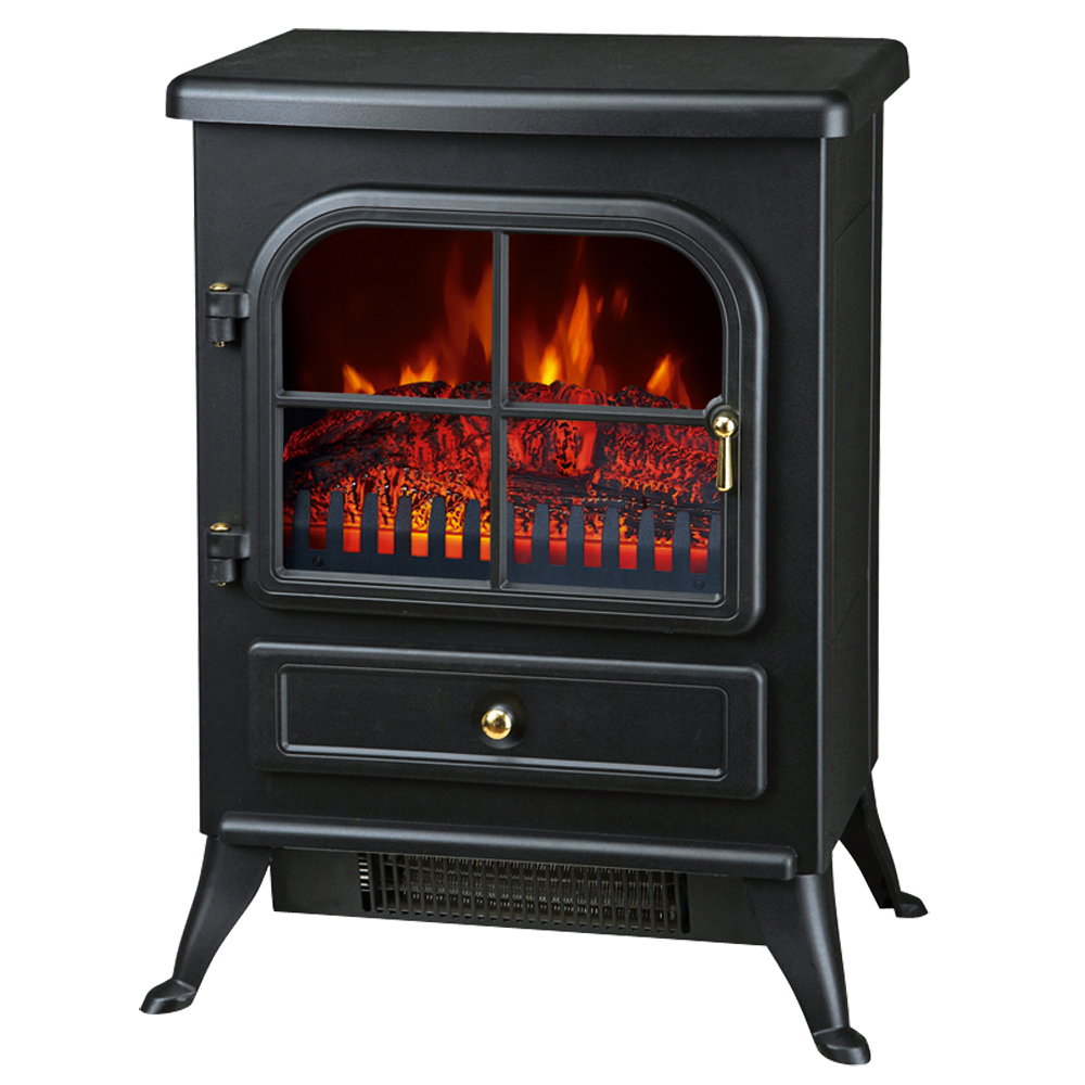 Electric Stove Heater ~ W electric fireplace heater fire place modern log