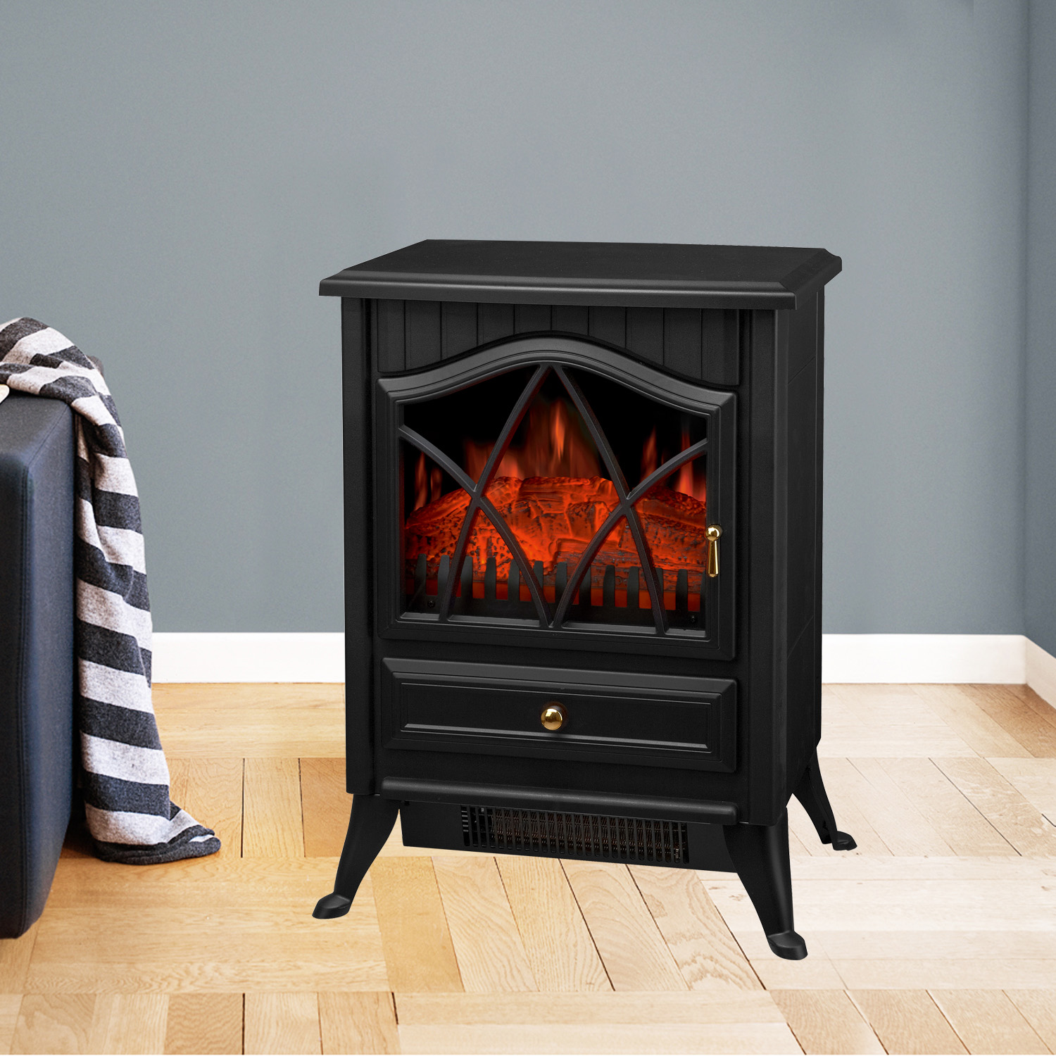 1850w electric fireplace heater fire place stove fan log. Black Bedroom Furniture Sets. Home Design Ideas