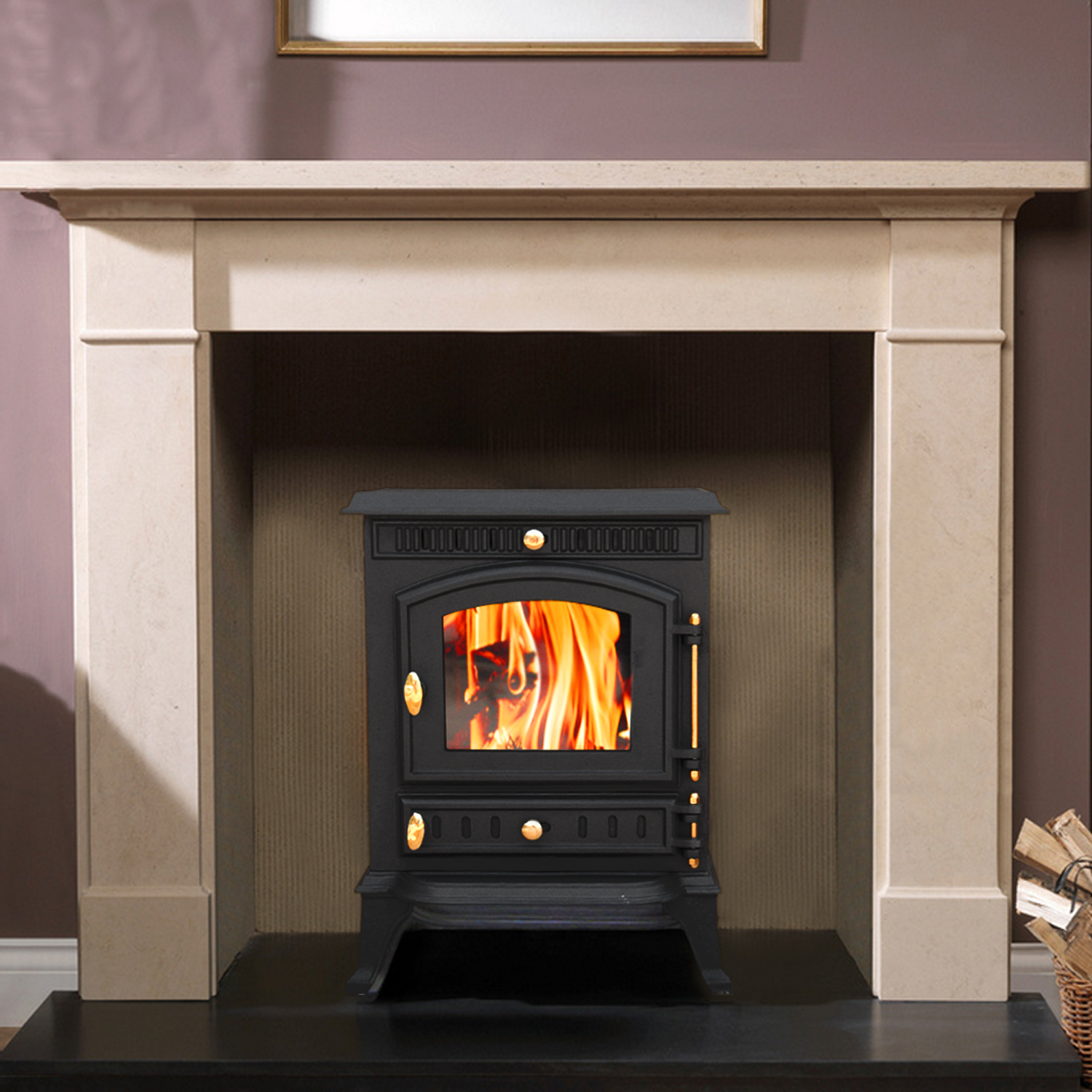 woodburner stove wood burning burner fire fireplace cast iron