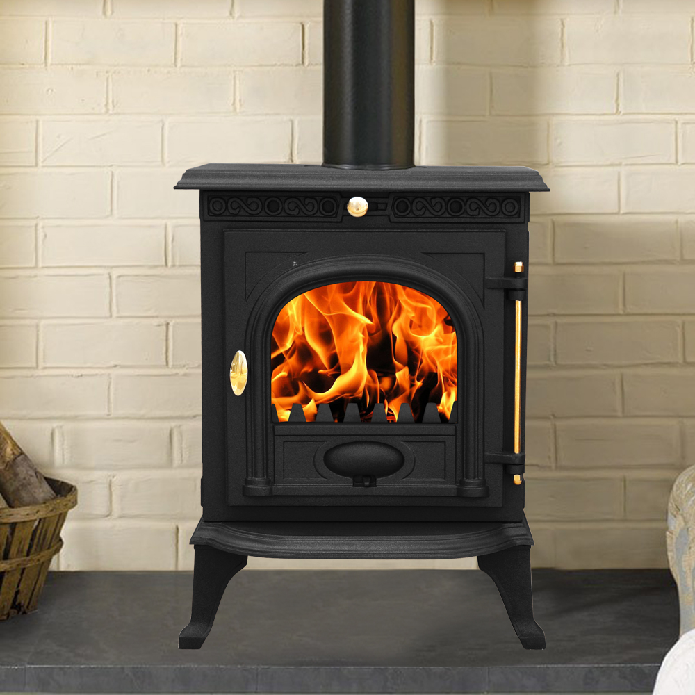 Multifuel Woodburner Stove Wood Burning Log Burner Modern Fire Fireplace New Ebay