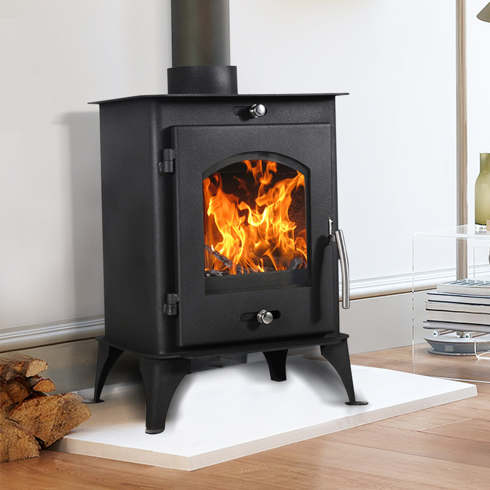 how to build a log fire in a log burner
