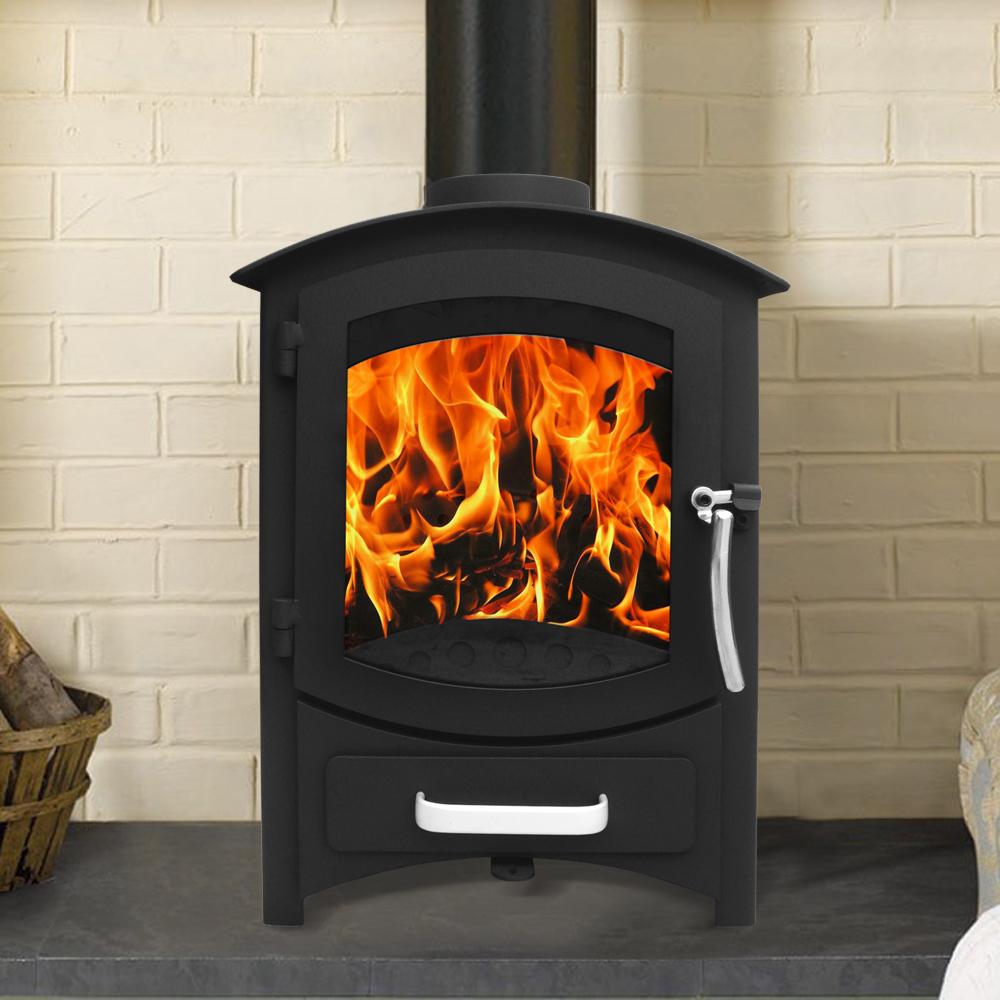 Multifuel woodburner stove wood burning log burner modern fire fireplace new ebay - Contemporary wood furniture burning fireplaces ...