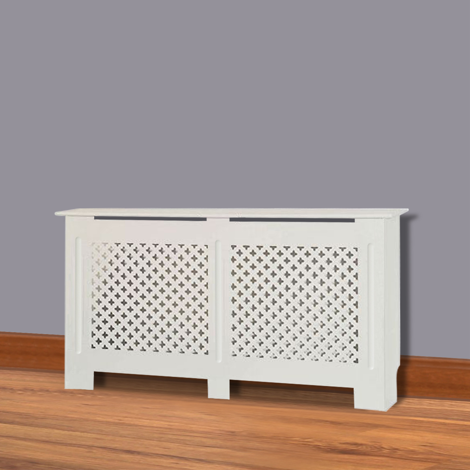 Modern Traditional Radiator Cover White Unfinished Wood