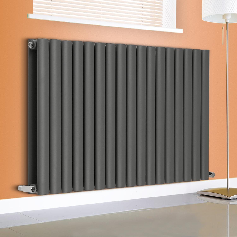 anthracite designer oval column panel radiators central. Black Bedroom Furniture Sets. Home Design Ideas