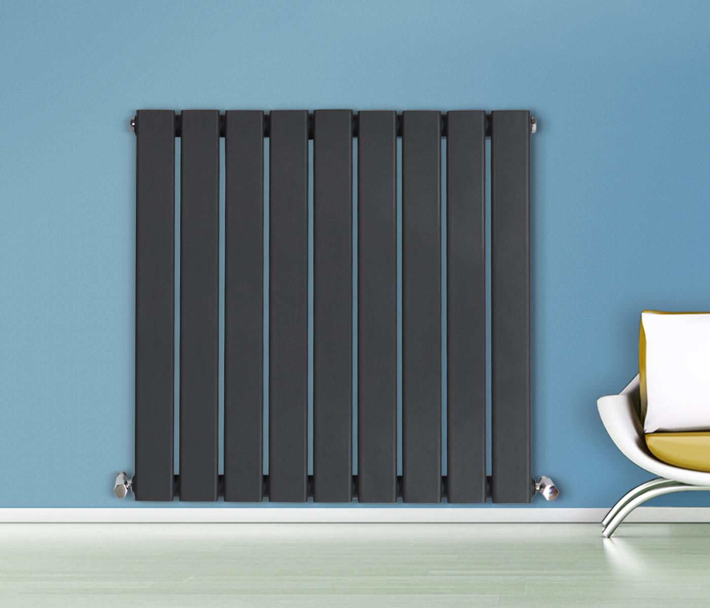 Modern Bathroom Radiators - Flat panel column designer modern bathroom radiators central