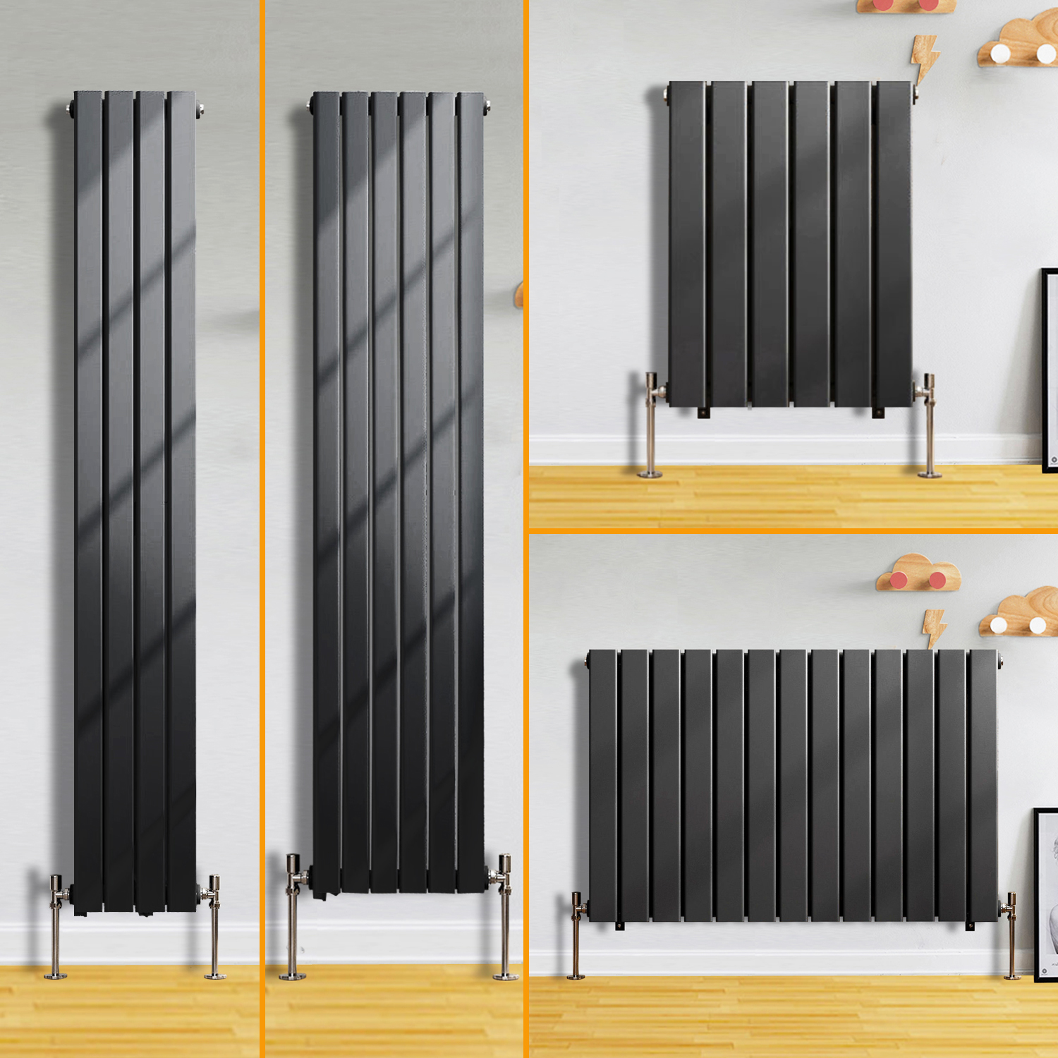 Flat Panel Column Designer Modern Bathroom Radiators