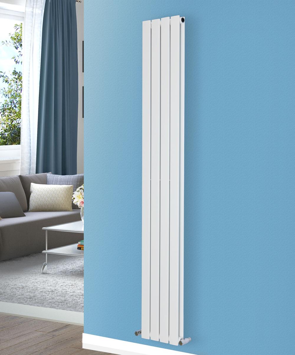 vertical flat panel column designer bathroom radiators. Black Bedroom Furniture Sets. Home Design Ideas