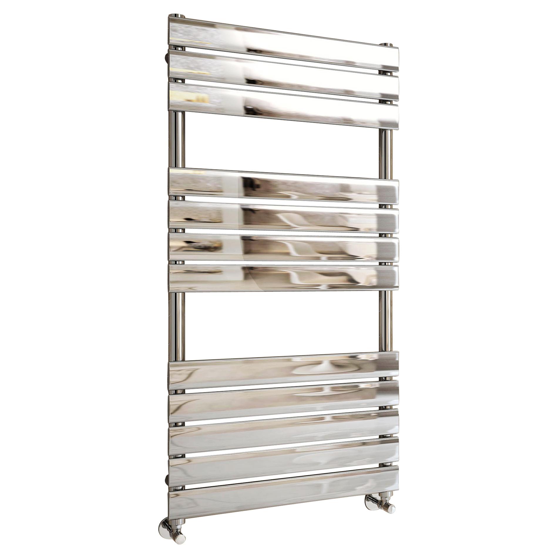 designer flat panel heated towel rail bathroom heater uk. Black Bedroom Furniture Sets. Home Design Ideas