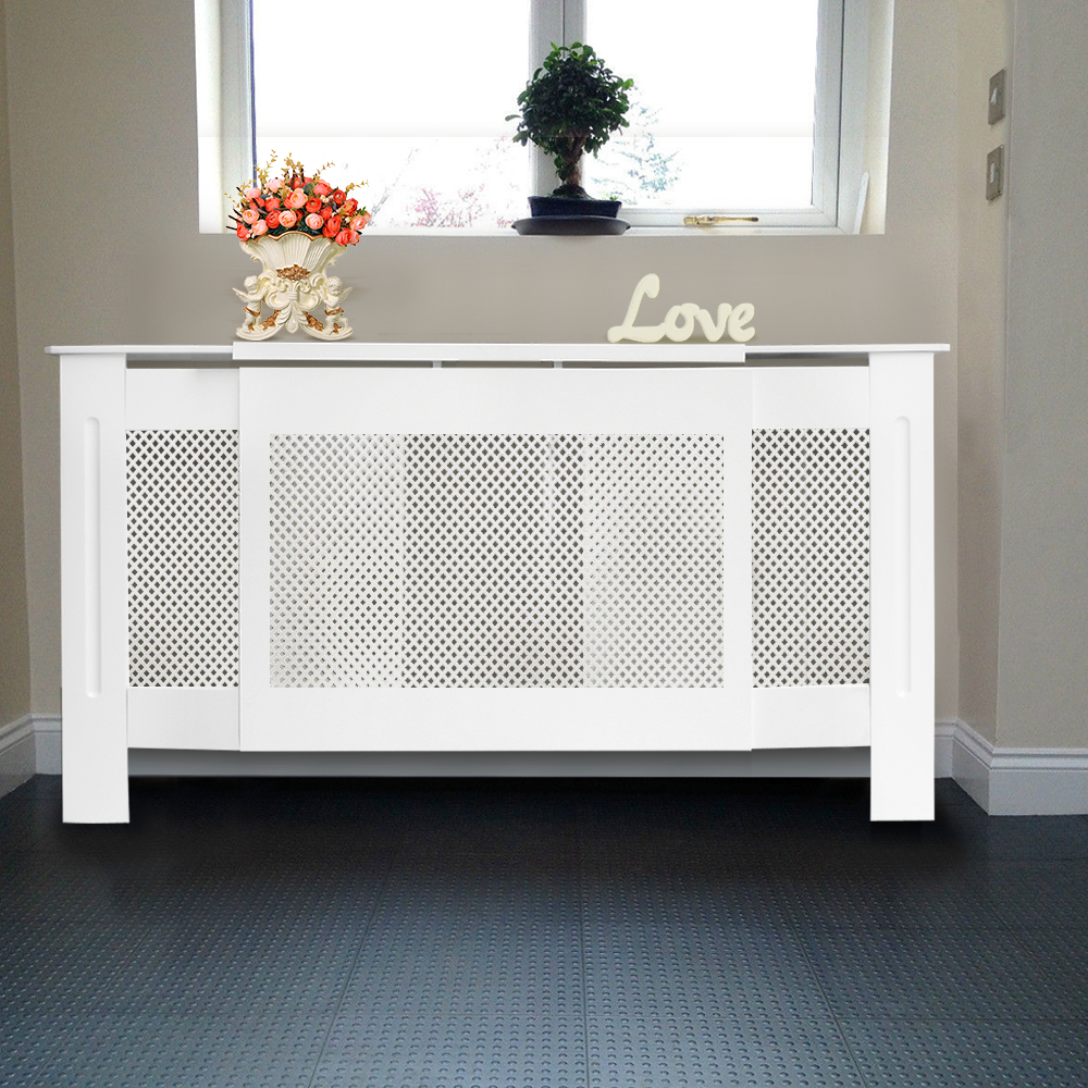 Painting Mdf Kitchen Cabinets White: White Painted Radiator Cover Modern MDF Wood Radiator